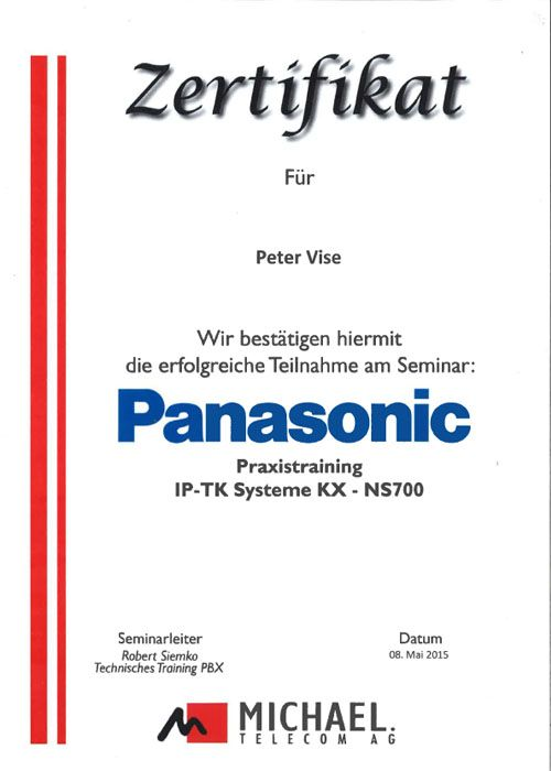 Panasonic Peter Vise NS1000